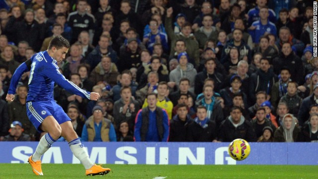 Eden Hazard got the ball rolling as Chelsea cruised to a 3-0 victory over Tottenham at Stamford Bridge.