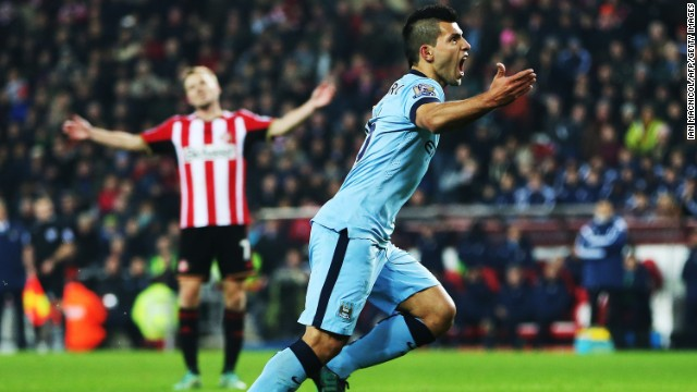 Sergio Aguero scored twice as Manchester City came from behind to win 4-1 at Sunderland.