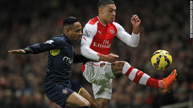 Arsenal grabbed a fortunate late winner to see off Southampton 1-0 during a closely fought contest in north London.