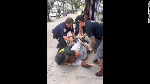 <strong>July 17:</strong> A New York City police officer, Daniel Pantaleo, puts Eric Garner in a chokehold for allegedly selling cigarettes illegally. During the encounter, which was caught on video, Garner is heard telling police he could not breathe. Garner, a 43-year-old asthmatic, <a href='http://www.cnn.com/2014/07/20/justice/ny-chokehold-death/index.html'>died en route to the hospital.</a> After a grand jury decided in December not to indict the police officer, <a href='http://www.cnn.com/2014/12/04/us/gallery/eric-garner-protests/index.html'>protests erupted</a> in several major U.S. cities.