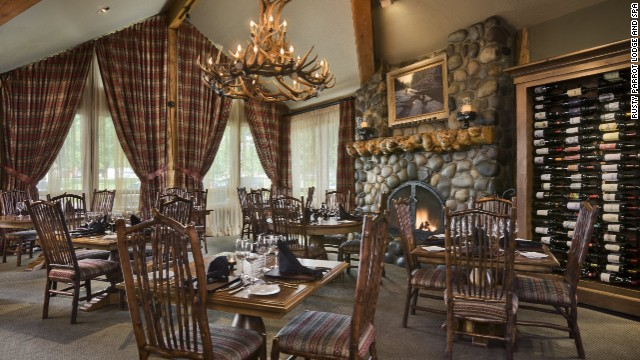 The Wild Sage restaurant at the tropically named Rusty Parrot Lodge boasts Jackson Hole's only AAA Four Diamond award.