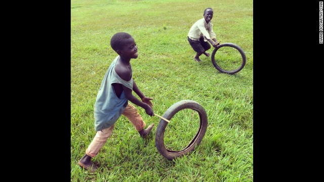 "UGANDA: ""Where old tyres go to die. Happy rolling on the first day of school holidays."" - CNN's Diane McCarthy, December 4. Follow Diane (<a href='http://instagram.com/dianemccarthy59' target='_blank'>@dianemccarthy59)</a> and other CNNers along on Instagram at <a href='http://instagram.com/cnn' target='_blank'>instagram.com/cnn</a>."