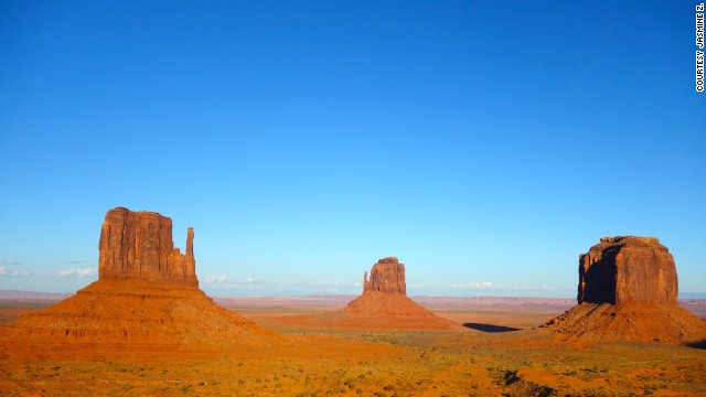 The <a href='http://ireport.cnn.com/docs/DOC-1180886'>Monument Valley Navajo Tribal Park</a>, located on the Arizona-Utah state line, is known for its towering sandstone formations and panoramic views.