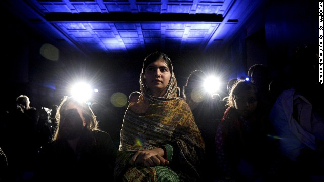 <strong>October 29:</strong> Young activist Malala Yousafsai attends an award ceremony in Stockholm, Sweden, before receiving the World's Children Prize for the Rights of the Child. Yousafzai, 17, also <a href='http://www.cnn.com/2014/10/10/world/europe/nobel-peace-prize/index.html'>received the Nobel Peace Prize</a> this year. Two years ago, she was shot in the head by the Taliban for her efforts to promote education for girls in Pakistan. Since then, after recovering from surgery, she <a href='http://www.cnn.com/2013/10/10/world/gallery/malala-yousufzai/index.html'>has taken her campaign to the world stage.</a>