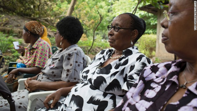 The RESEWO women drink tea at their headquarters in Dar es Salaam. The women formed the organization one afternoon whilst drinking tea made from leaves growing in the garden of founder, Freda Chale.