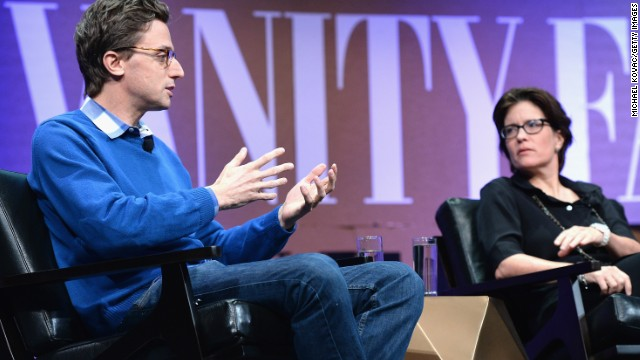 Buzzfeed CEO Jonah Peretti speaks with Re/code editor Kara Swisher during an October Vanity Fair event in San Francisco.