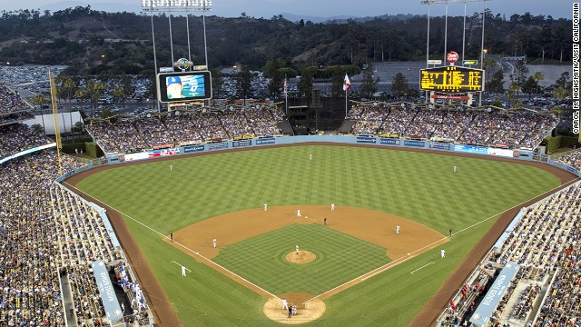 Los Angeles' Dodger Stadium is the second most Instagrammed place on earth. It's home to the city's baseball team.