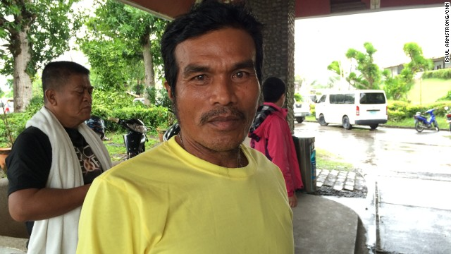 Fisherman Joseph Pedrero lost 11 members of his family, including his wife, children and mother, during Typhoon Haiyan.