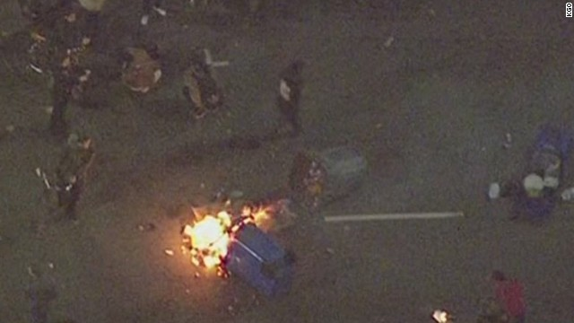 Protesters Flood California Highway, Throw Explosives at Officers, Police Say