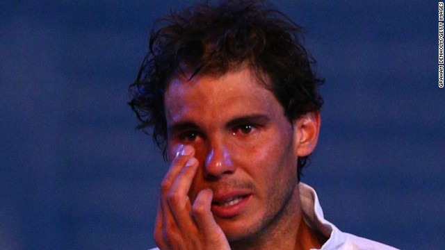 At the start of the year he was in tears after losing the Australian Open final in January.