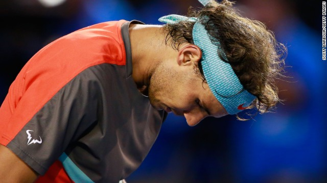 Nadal injured his back in the warmup and fell to Swiss Stan Wawrinka in four sets in Melbourne.