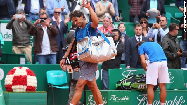 Nadal suffered upset losses in three of his ensuing five tournaments, including a defeat to David Ferrer at the Monte Carlo Masters. It was the first time since his debut in Monte Carlo in 2003 that Nadal didn't reach the final.