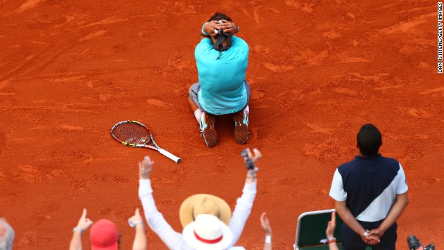 Nadal then won the Madrid Masters -- aided by an injury to his opponent Kei Nishikori -- and followed that up by claiming a record ninth French Open title in June.