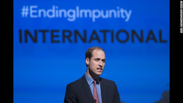Prince William speaks at the World Bank on December 8.