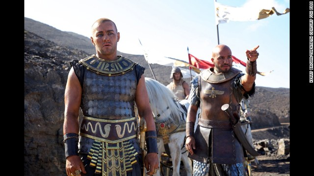 "Dar Salim, shown here pointing, was born in Baghdad, Iraq, and is one of the few actors of Middle East descent in the new biblical epic ""Exodus."""