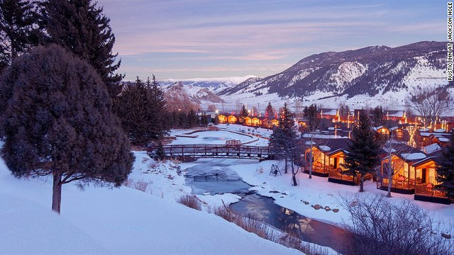 The Rustic Inn at Jackson Hole, Wyoming, is set on grounds covering 12 acres with their own landscaped trails along Flat Creek.