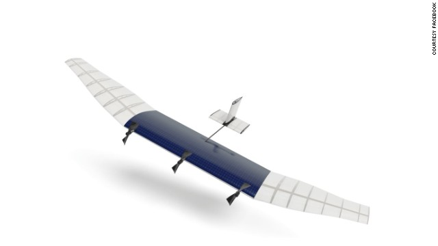 "One idea being developed by Facebook's Connectivity Lab is solar-powered, high-altitude aircraft (like the one in this graphical representation) that can be deployed for months to deliver internet connections. The drones would fly at 65,000 feet and, according to Facebook, would be able to "" broadcast a powerful signal that covers a city-sized area of territory with a medium population density."""