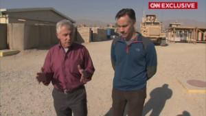 Behind the scenes: Hagel in Afghanistan