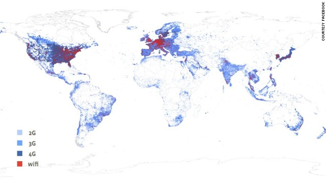 "Facebook's research shows that around 80-90% of the world's population lives in areas already covered by by 2G or 3G networks, usually urban or semi-urban areas where this infrastructure has been put in by mobile operators. ""For most people, the obstacles to getting online are primarily economic,"" it adds. The remaining people often live in ""some of the most remote places on Earth"" so it is impractical to use the same infrastructure that you would in urban areas."