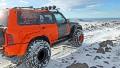 Volcano vs. monster truck in Iceland