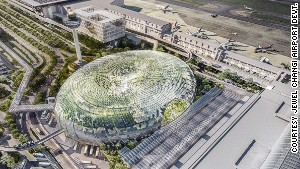 Looking like green-jelly doughnut, Jewel Changi Airport will be a destination in itself when completed.