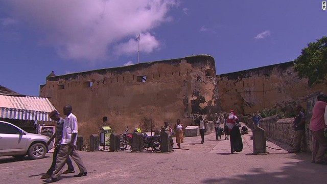 The walls of Fort Jesus in Mombasa, Kenya, would have been one of the first sites Indian migrants would have seen when arriving in the East African country over 100 years ago.