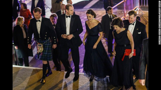 Prince William, Duke of Cambridge, and Catherine, Duchess of Cambridge, arrive at the Metropolitan Museum of Art to attend the St. Andrews University 600th anniversary dinner on Tuesday, December 9. The royal couple visited the United States for three days.