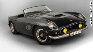 A 1961 Ferrari 250 GT SWB California Spider was restored after being found under a pile of magazines.