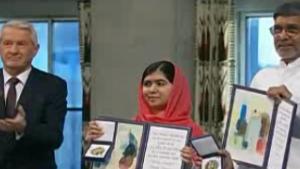 Malala, Satyarthi accept Nobel Peace Prize