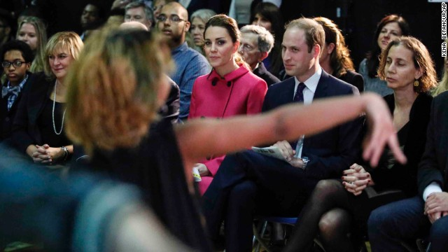 The royal couple attend a show presented by the organization The Door and the City Kids Foundation in New York on December 9.