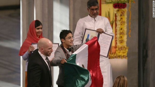 Mexican national Adán Cortés was arrested after he interrupted the Nobel ceremony, standing steps away from the winners.