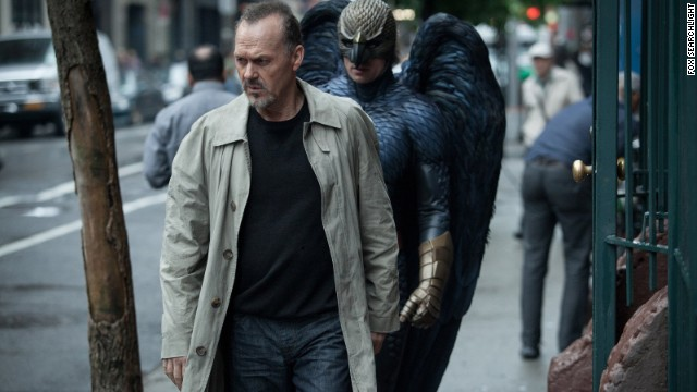 "Best motion picture -- comedy or musical: ""Birdman"" (pictured), ""The Grand Budapest Hotel,"" ""Into the Woods,"" ""Pride,"" ""St. Vincent."""