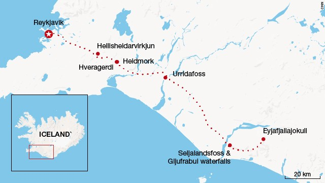 Iceland route (Click to enlarge)