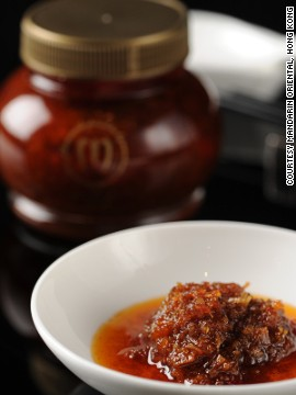 You can take home local flavor in a jar of XO sauce. Every restaurant has its own recipe, but you can't go wrong with the one from the Mandarin Oriental Cake Shop.