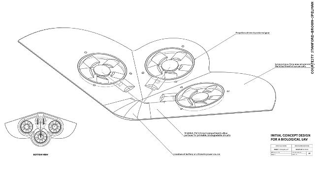 El drone biodegradable de la NASA