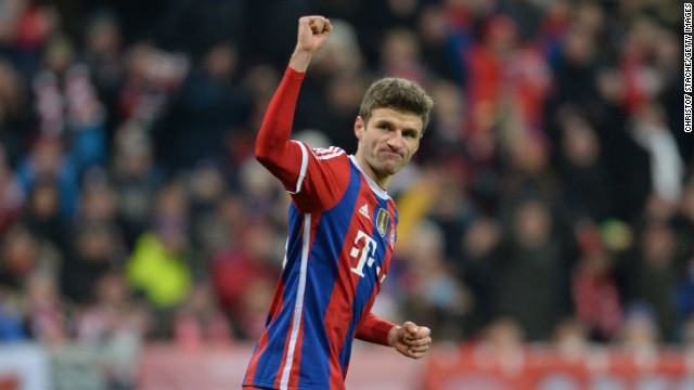 Thomas Muller was on target as Bayern Munich crushed CSKA Moscow 3-0 at the Allianz Arena. Sebastian Rode and Mario Gotze both scored after the interval.