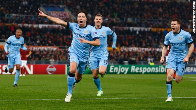 Samir Nasri's spectacular 60th minute strike gave City a 1-0 lead following a tight contest in the Italian capital.