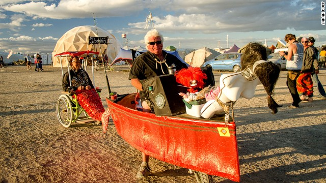 AfrikaBurn has been running for nine years, increasing in size each year --<!-- --></br>9,000 people, some dressed as boats or mermaids, attended the 2014 event.