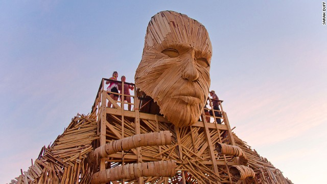 The AfrikaBurn festival springs up literally in the middle of nowhere. After it's finished, everything is dismantled and the site returns to wilderness.