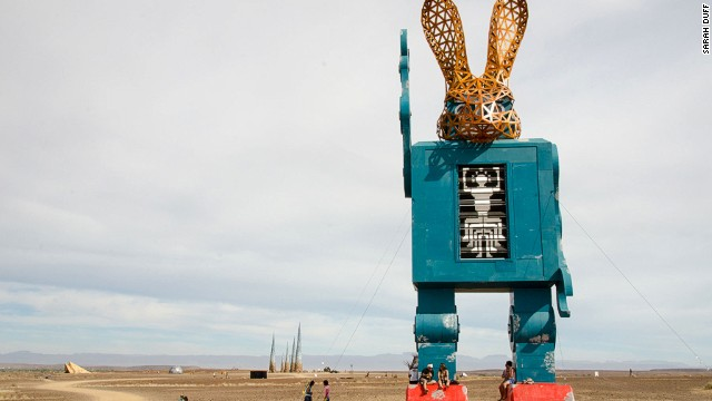 The gigantic sculptures and bodypainted revelers resemble props and extras from dozens of different movie sets.