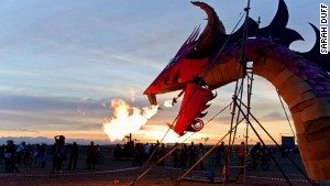 Turning up the heat: The event culminates in fiery displays.