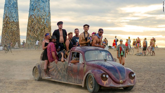 Money is no good at the festival. The only thing to buy is ice. Otherwise AfrikaBurn runs on a gifting economy in which everyone is expected to give something to others. Like a ride.