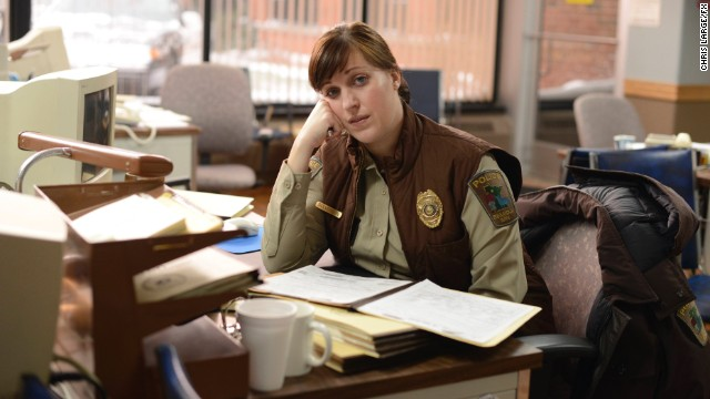 "Best actress in a mini-series or TV movie: Allison Tolman, ""Fargo"" (pictured); Maggie Gyllenhaal, ""The Honorable Woman""; Jessica Lange, ""American Horror Story: Freak Show""; Frances McDormand, ""Olive Kitteridge""; Frances O'Connor, ""The Missing."""