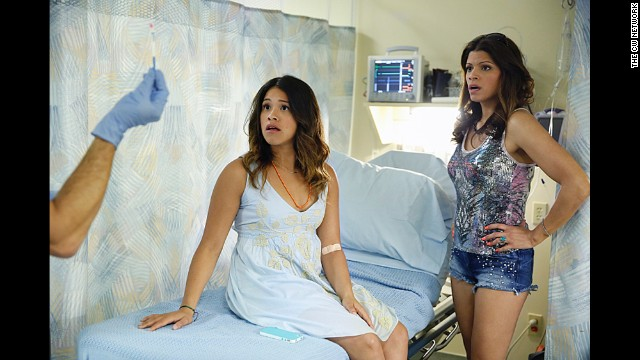 "Best TV series -- comedy: ""Jane the Virgin"" (pictured), ""Orange Is the New Black,"" ""Girls,"" ""Silicon Valley,"" ""Transparent."""