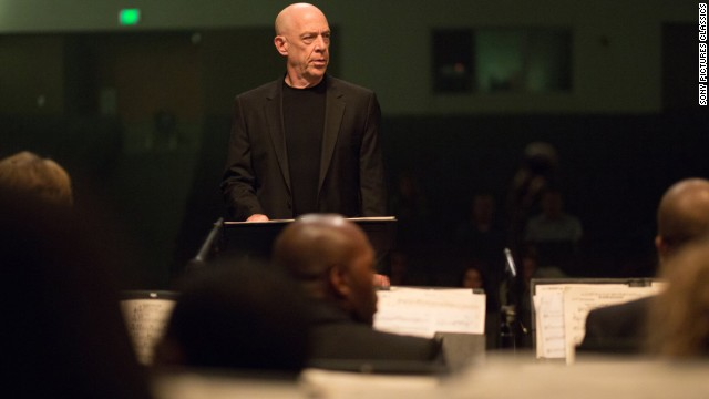"Best supporting actor in a motion picture: J.K. Simmons, ""Whiplash"" (pictured); Robert Duvall, ""The Judge""; Ethan Hawke, ""Boyhood""; Edward Norton, ""Birdman""; Mark Ruffalo, ""Foxcatcher."""