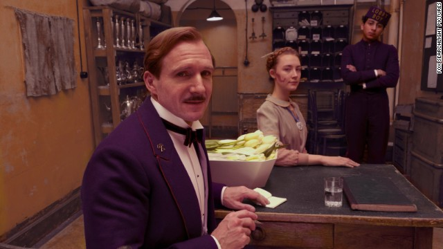 "Best actor in a motion picture -- musical or comedy: Ralph Fiennes, ""The Grand Budapest Hotel"" (pictured); Michael Keaton, ""Birdman""; Bill Murray, ""St. Vincent""; Joaquin Phoenix, ""Inherent Vice""; Christoph Waltz, ""Big Eyes."""
