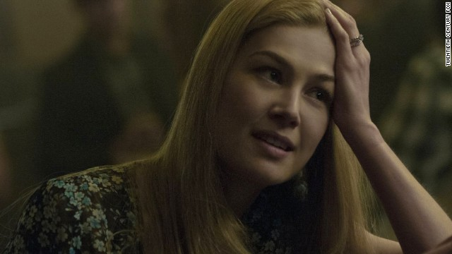 "Best actress in a motion picture -- drama: Rosamund Pike, ""Gone Girl"" (pictured); Jennifer Aniston, ""Cake""; Felicity Jones, ""The Theory of Everything""; Julianne Moore, ""Still Alice""; Reese Witherspoon, ""Wild."""