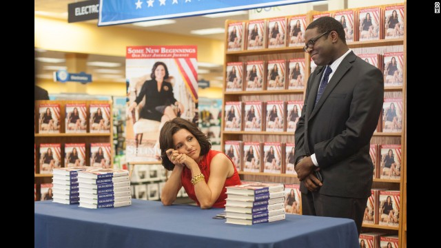 "Best actress in a TV series -- comedy: Julia Louis-Dreyfus, ""Veep"" (pictured); Lena Dunham, ""Girls""; Edie Falco, ""Nurse Jackie""; Gina Rodriguez, ""Jane the Virgin""; Taylor Schilling, ""Orange Is the New Black."""