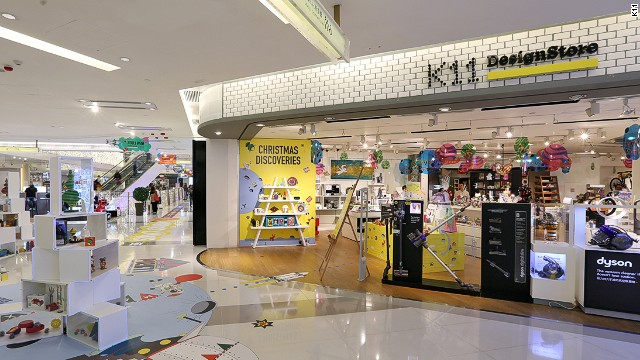 K11 mall houses local designer brands. Its own curated selection of designer products can be found at the K11 Design Store.