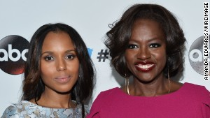 Kerry Washington and Viola Davis arrive at an event in West Hollywood in September.